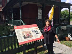 Angela at the Susan B. Anthony house in Rochester, N.Y.